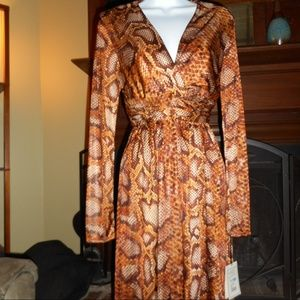 NWT Altuzarra Target snakeskin print dress, Size 6